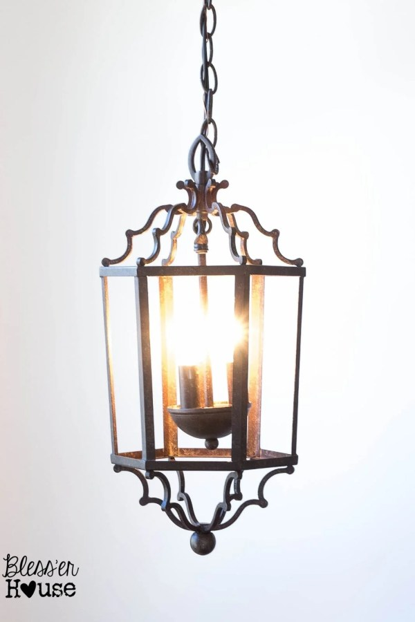 12 Goodwill Shopping Secrets Revealed | Bless'er House -- this ready-to-hang light came from Goodwill for only $17! It's one of my favorite pieces.