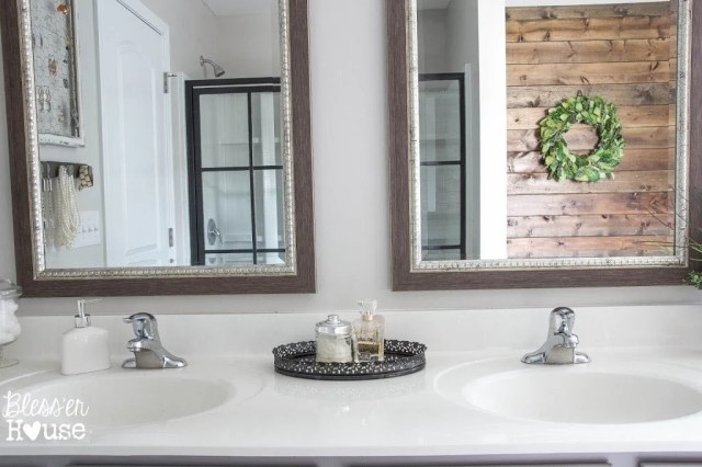Bathroom Budget Makeover | Builder Grade to Rustic Industrial | Bless'er House