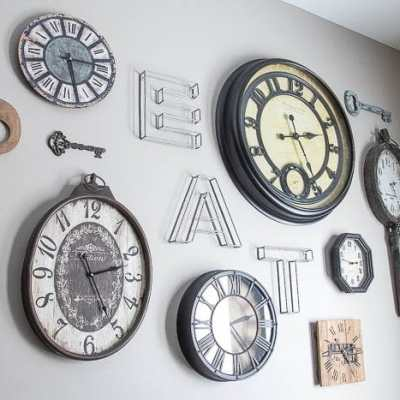Clock Wall Color Switch & How to DIY Aged Metal