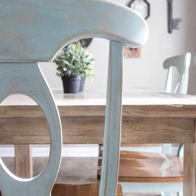 Distressed Duck Egg Dining Chairs Makeover