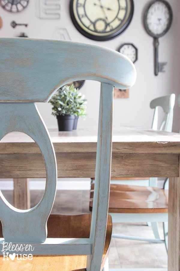 7 Ingredients to Create a Cozy Space | www.blesserhouse.com | distressed ASCP duck egg chairs