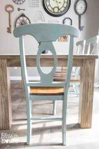 Distressed Duck Egg Dining Chairs Makeover - Bless'er House