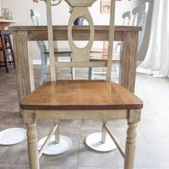 Distressed Kitchen Chairs Outdoor Frame Kit Duck Egg Dining Makeover Bless Er House Blue 2 Of 14