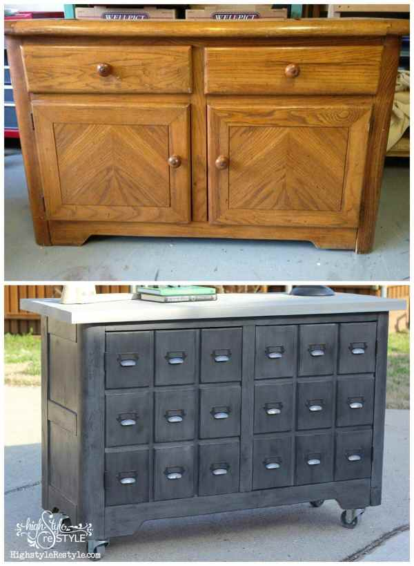 DIY Industrial Apothecary Cart | High Style Restyle