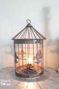DIY Birdcage Lamp