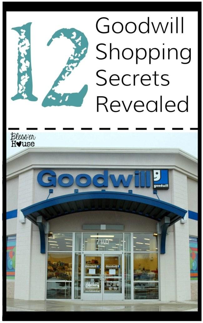 12 Goodwill Shopping Secrets Revealed