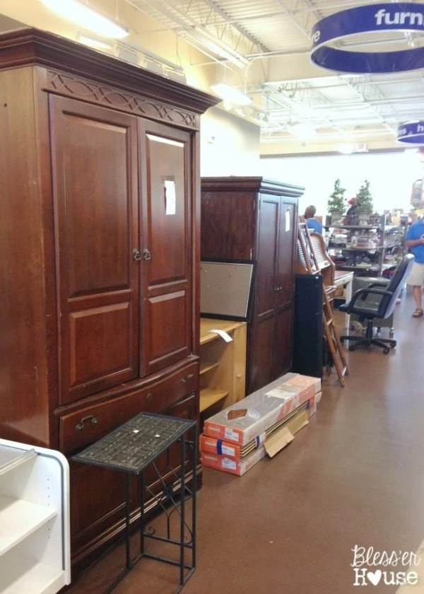 12 Goodwill Shopping Secrets Revealed | Bless'er House -- Furniture is one of my favorite things to find and spruce up from Goodwill! There's so much potential in these cabinets, dressers, and media centers.
