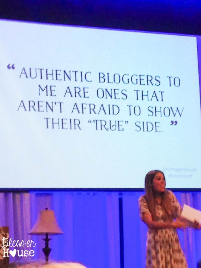 "Authentic bloggers are ones that aren't afraid to show their ""true"" side."