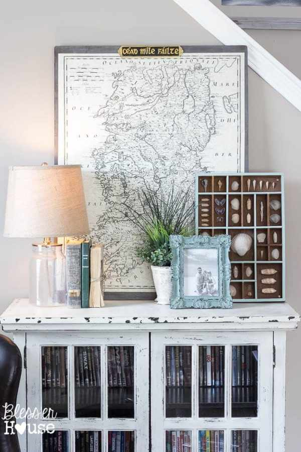 7 Ingredients to Create a Cozy Space | www.blesserhouse.com | vintage map