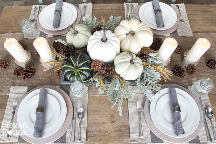 Fall Tablescape | How to Decorate for Fall on a Budget | blesserhouse.com