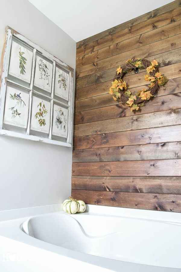 Plank Wall | How to Decorate for Fall on a Budget | blesserhouse.com