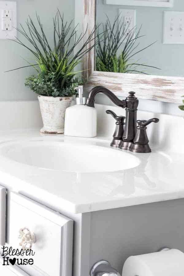 Upgrading a Bathroom Faucet | Bless'er House