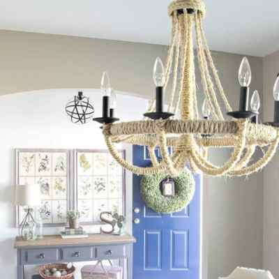 DIY Rope Chandelier (with Remodelaholic)