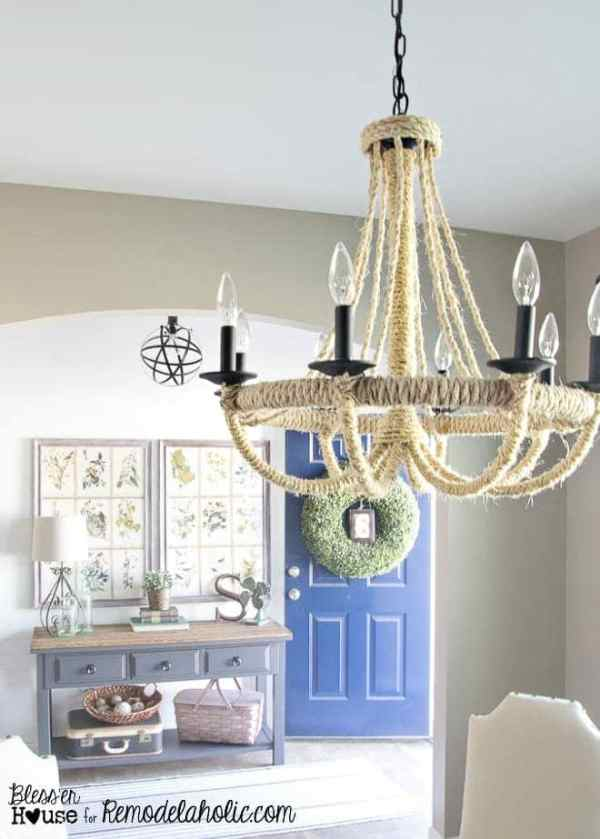 DIY Rope Chandelier