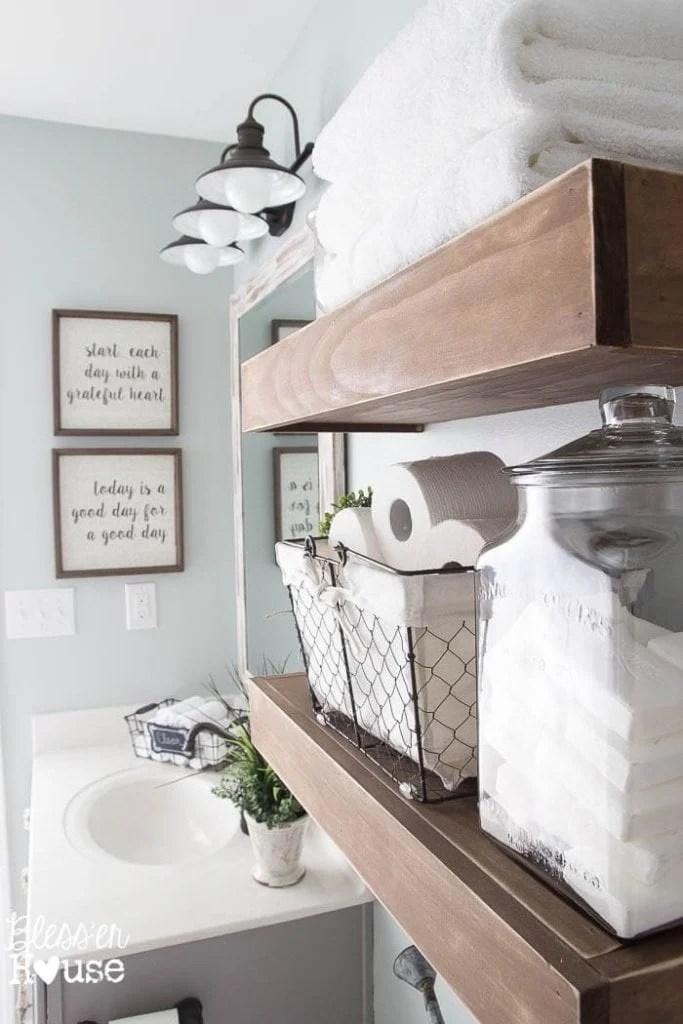 Modern Farmhouse Bathroom Makeover Reveal