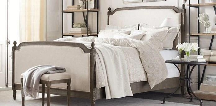 Modern Rustic Master Bedroom Design Plan | www.blesserhouse.com | Restoration Hardware bed