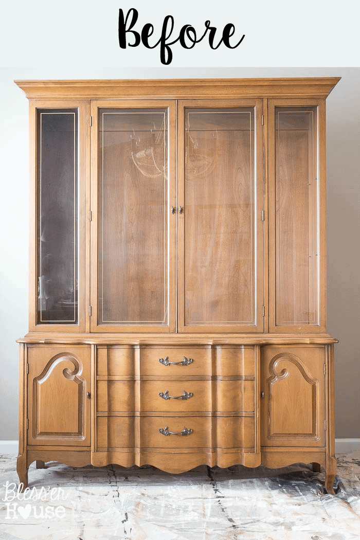 French Provincial China Cabinet Makeover