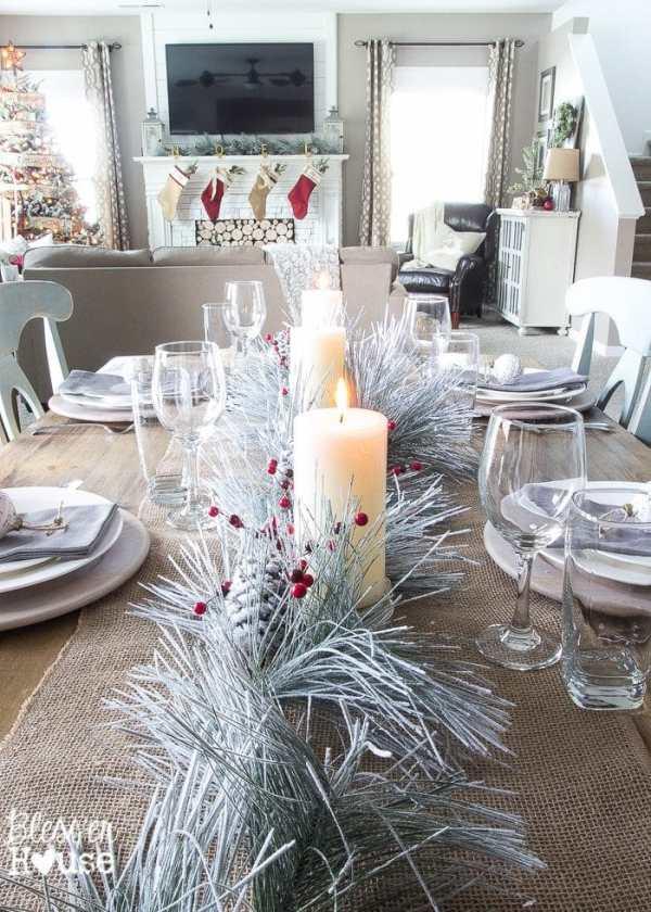 Christmas Home Tour 2015 Part 2 | blesserhouse.com | tablescape