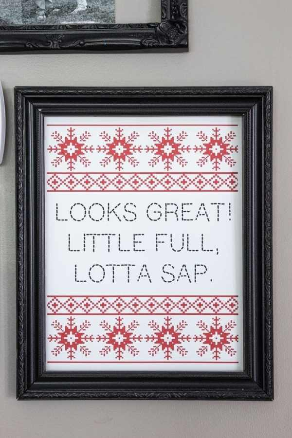 Nordic Christmas Movie Quote Printables | blesserhouse.com - These are too cute!