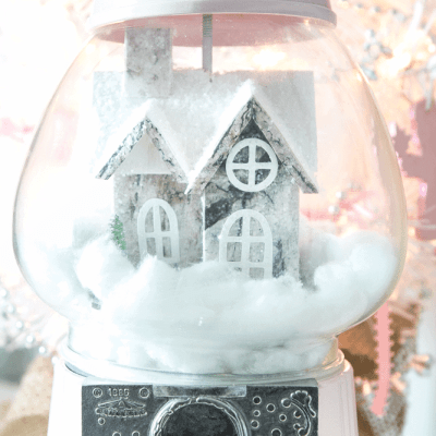 DIY Snow Globe Gumball Machine