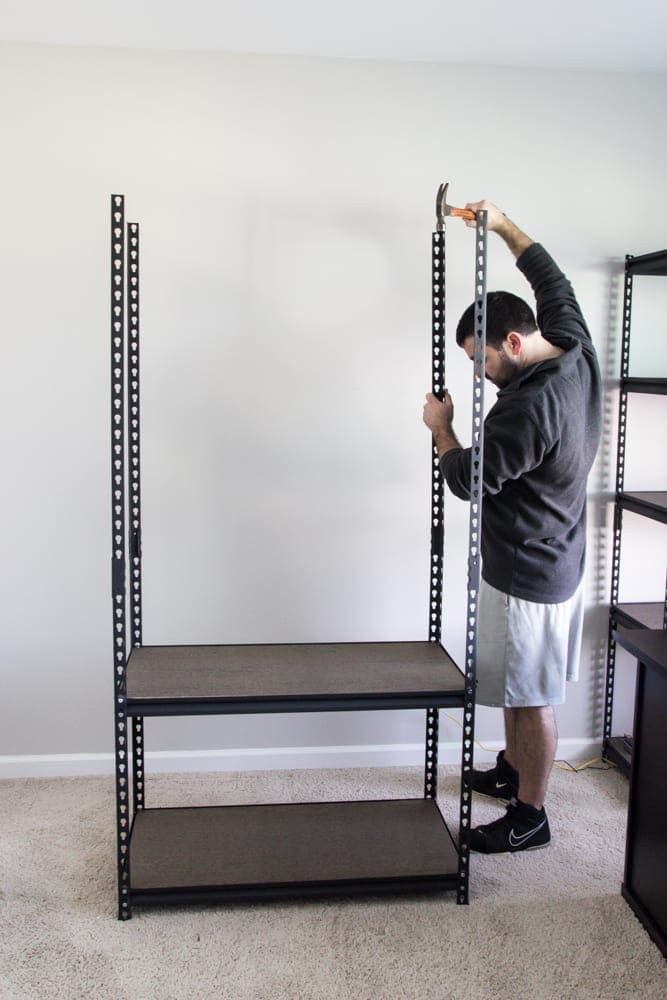 How to Style Industrial Shelves on the Cheap | Bless'er House for Remodelaholic.com