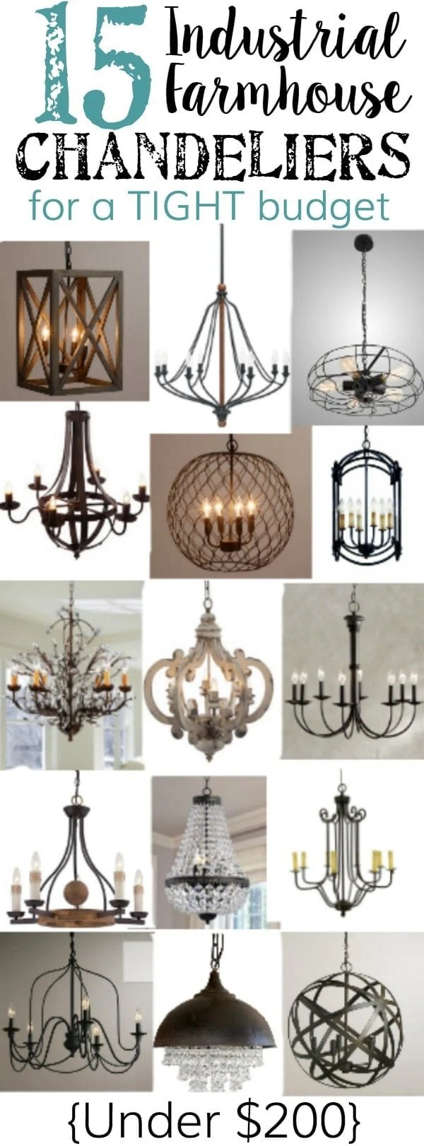 15 Farmhouse Chandeliers For A Budget Bless Er House