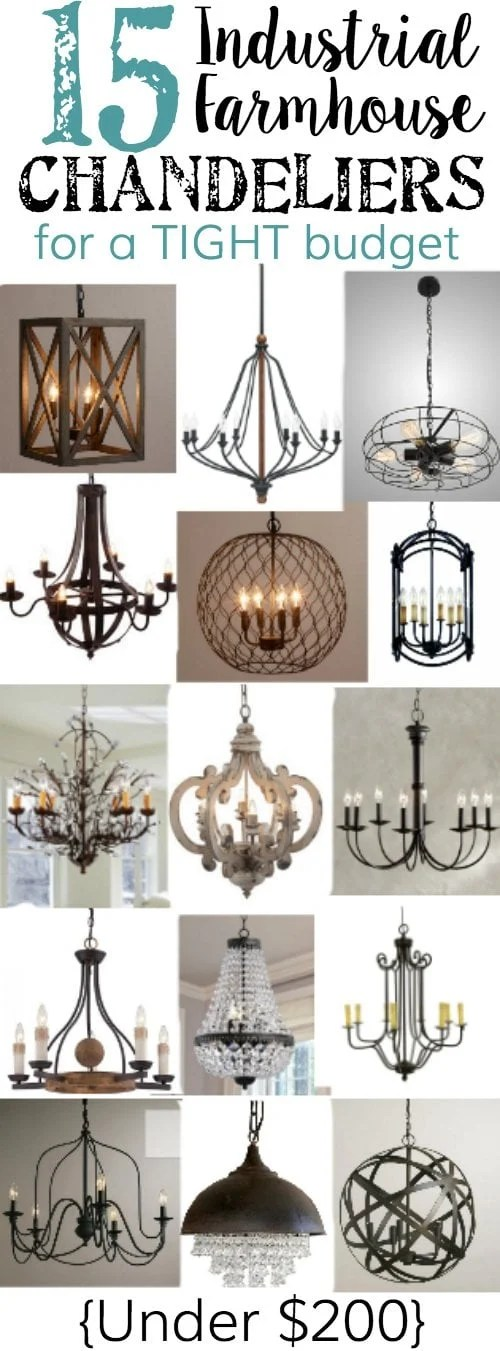 15 Industrial Farmhouse Chandeliers for a Tight Budget | blesserhouse.com