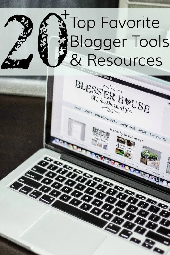 20+ Top Favorite Blogger Tools and Resources   blesserhouse.com - The BEST ebooks, camera gear, software, apps, and resources to turn a hobby blog into a full-time income!