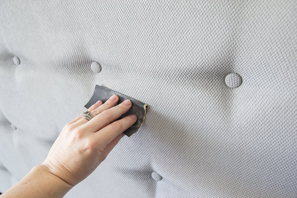 Beginner's Guide to Painting Upholstery   blesserhouse.com A simple tutorial for painting fabric furniture- This is so easy! Way better than upholstering furniture from scratch.