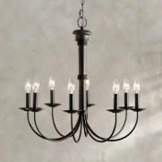 8 Light Black Chandelier