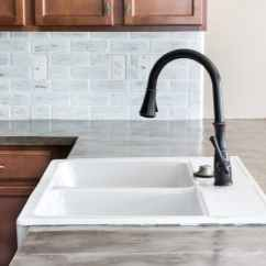 Cement Kitchen Sink Sizes Diy Feather Finish Concrete Countertops Bless Er House And How To Avoid A Huge Mistake Blesserhouse Com
