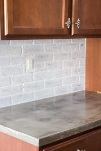 DIY Feather Finish Concrete Countertops - Bless'er House