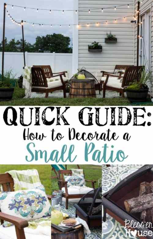 How to Decorate a Small Patio