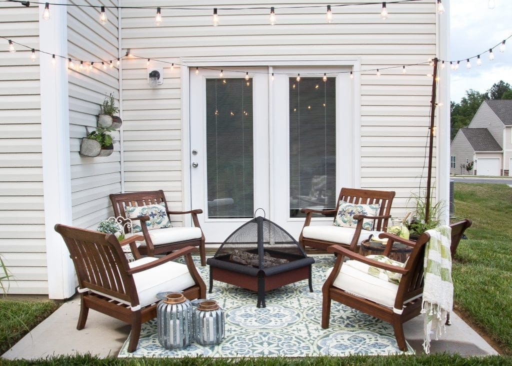 patio string chair cheap ideas for covers how to decorate a small bless er house blesserhouse com utilize space