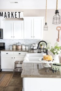 DIY Whitewashed Faux Brick Backsplash - Bless'er House