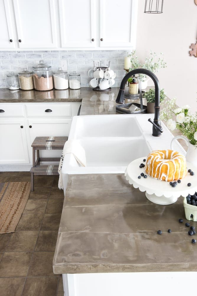 inexpensive countertops for kitchens oak and white kitchen table the good bad ugly of concrete bless er house blesserhouse com what