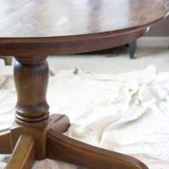 Oak Kitchen Table Cottage Style Furniture Weathered Dining Makeover Bless Er House Blesserhouse Com A Thrifted Banged Up