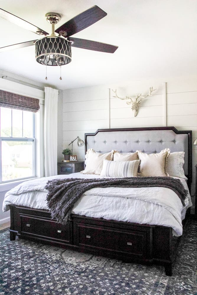 Rustic Modern Master Bedroom Reveal and Sources  Blesser
