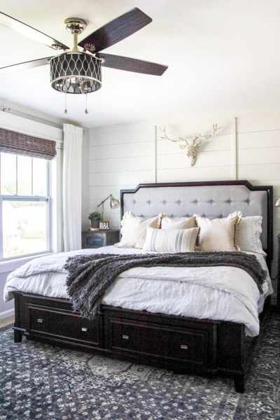 modern rustic bedroom Rustic Modern Master Bedroom Reveal and Sources - Bless'er House