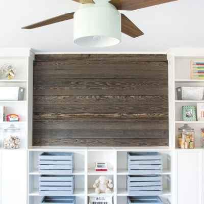 DIY Wood Plank Focal Wall + ORC Week 4