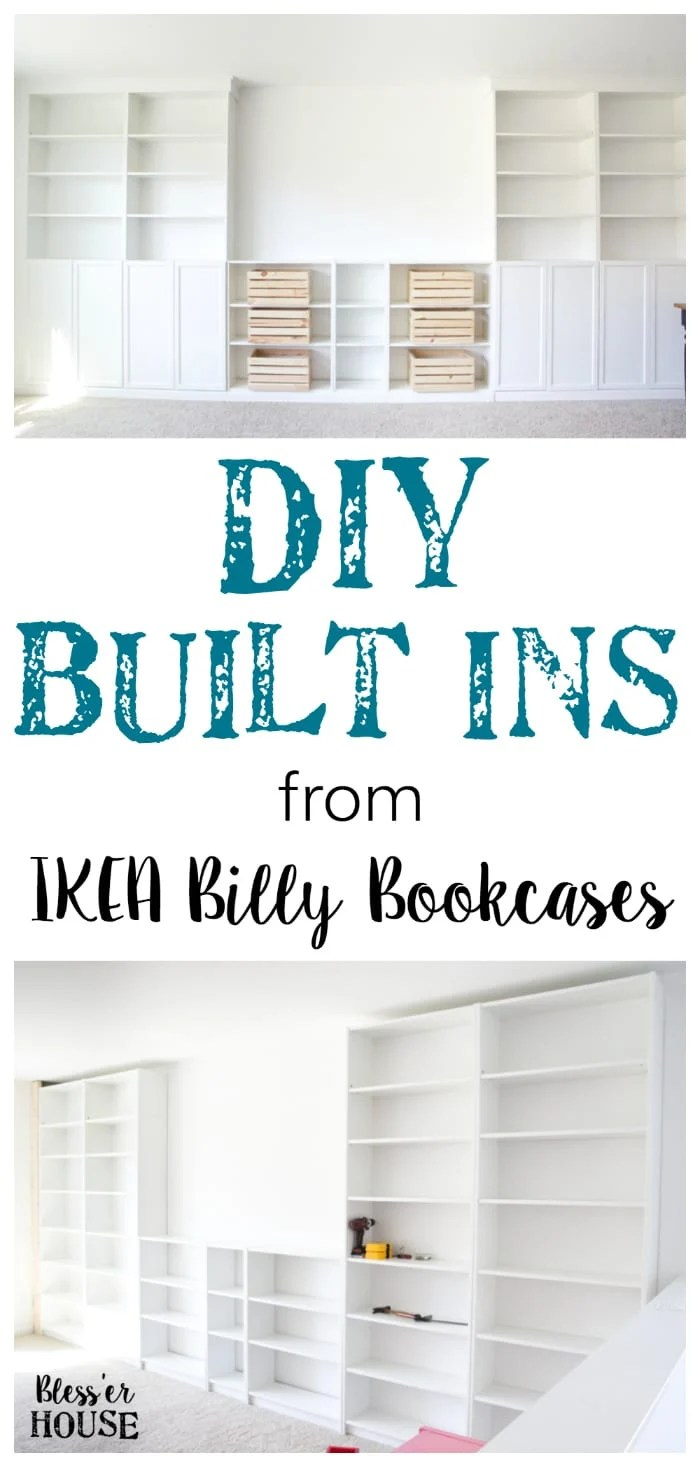 Diy Built Ins From Ikea Bookcases Orc Week 2 Bless39er