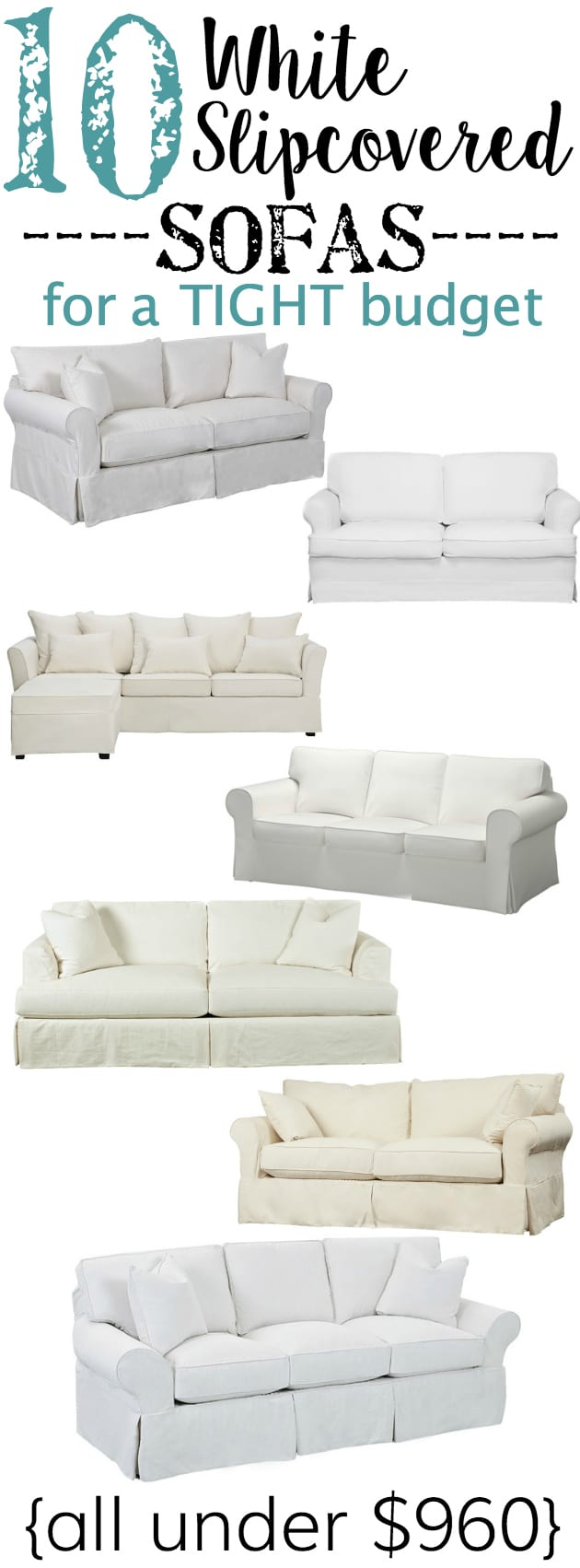 Picture of: 10 White Slipcovered Sofas On A Budget Bless Er House