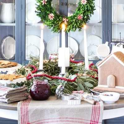 Swedish St Lucia Inspired Christmas Table