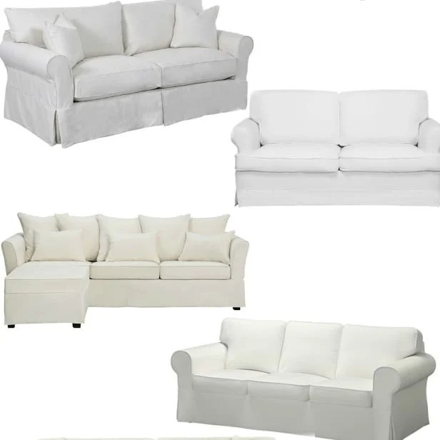 white slipcovered sofa living room decorating ideas for walls 10 sofas on a budget bless er house