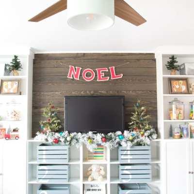Whimsical Retro Christmas Playroom