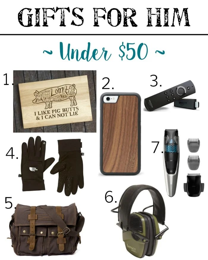 Holiday Gift Guide - Gifts for Him Under $50 | blesserhouse.com - Gift ideas for men and women of all ages for all budgets plus a $300+ giveaway!