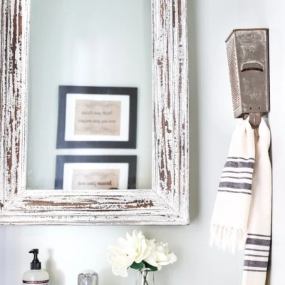 Box Grater Towel Rack + A Touch of Farmhouse Charm