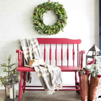 Cranberry Bench Makeover