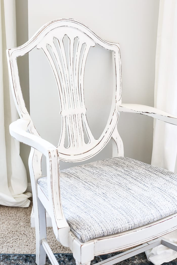 white bedroom chair gym ball raw silk painted master bless er house french style blesserhouse com a yard sale duncan phyfe
