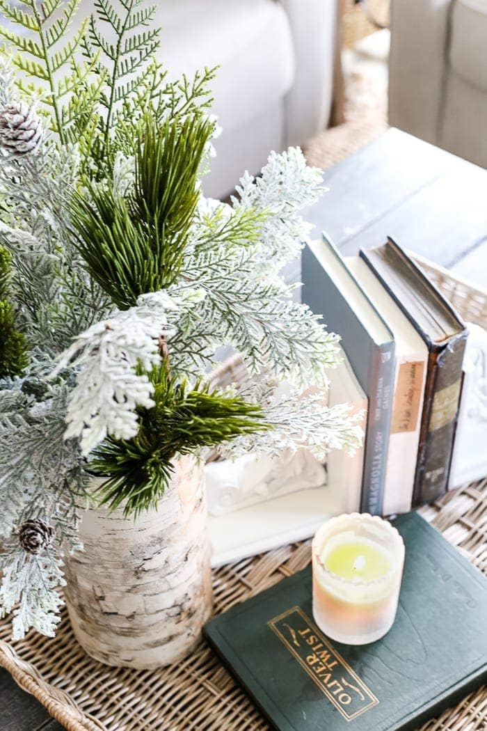 living room mantel accent walls in after christmas winter and blesserhouse com a tour of